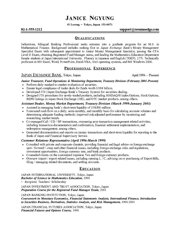 Samplebusinessresume.Com - Page 34 Of 37 - Business Resume