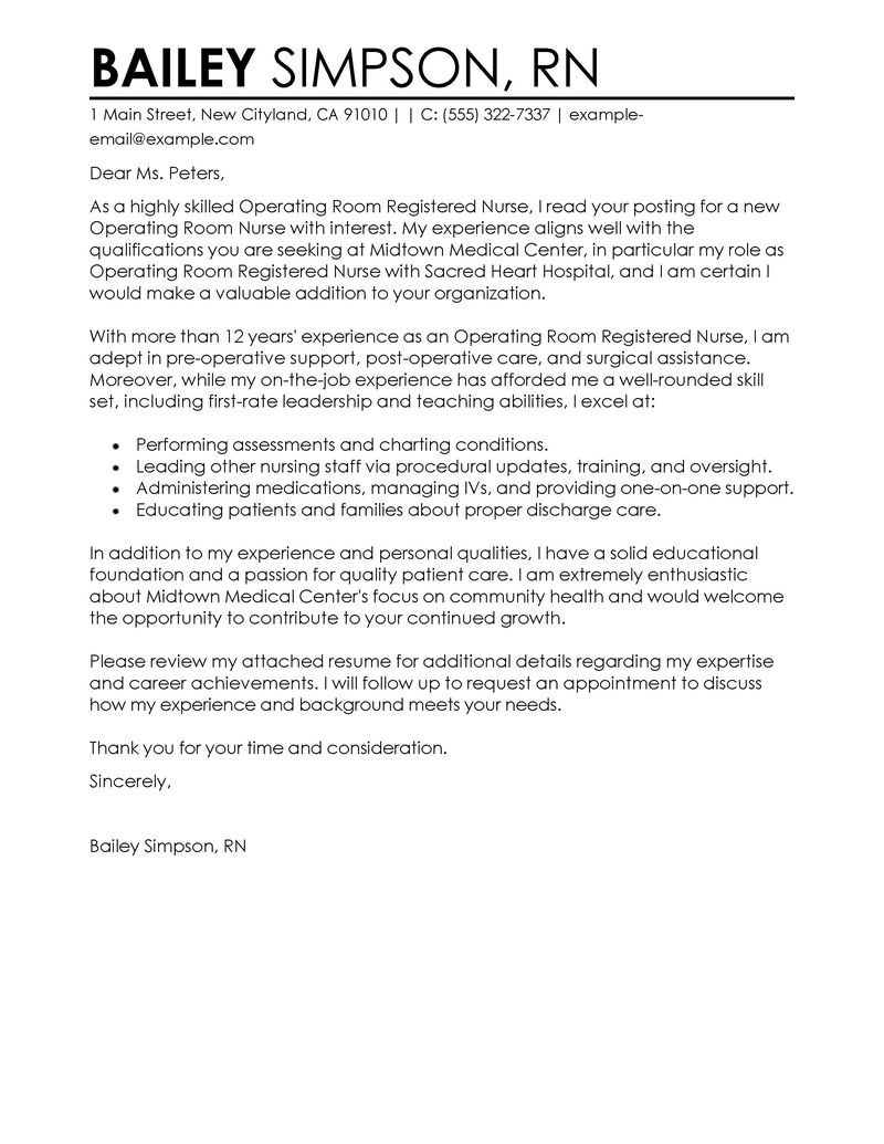 Nursing Cover Letter Nursing Cover Letter Examples Bailey Simpson