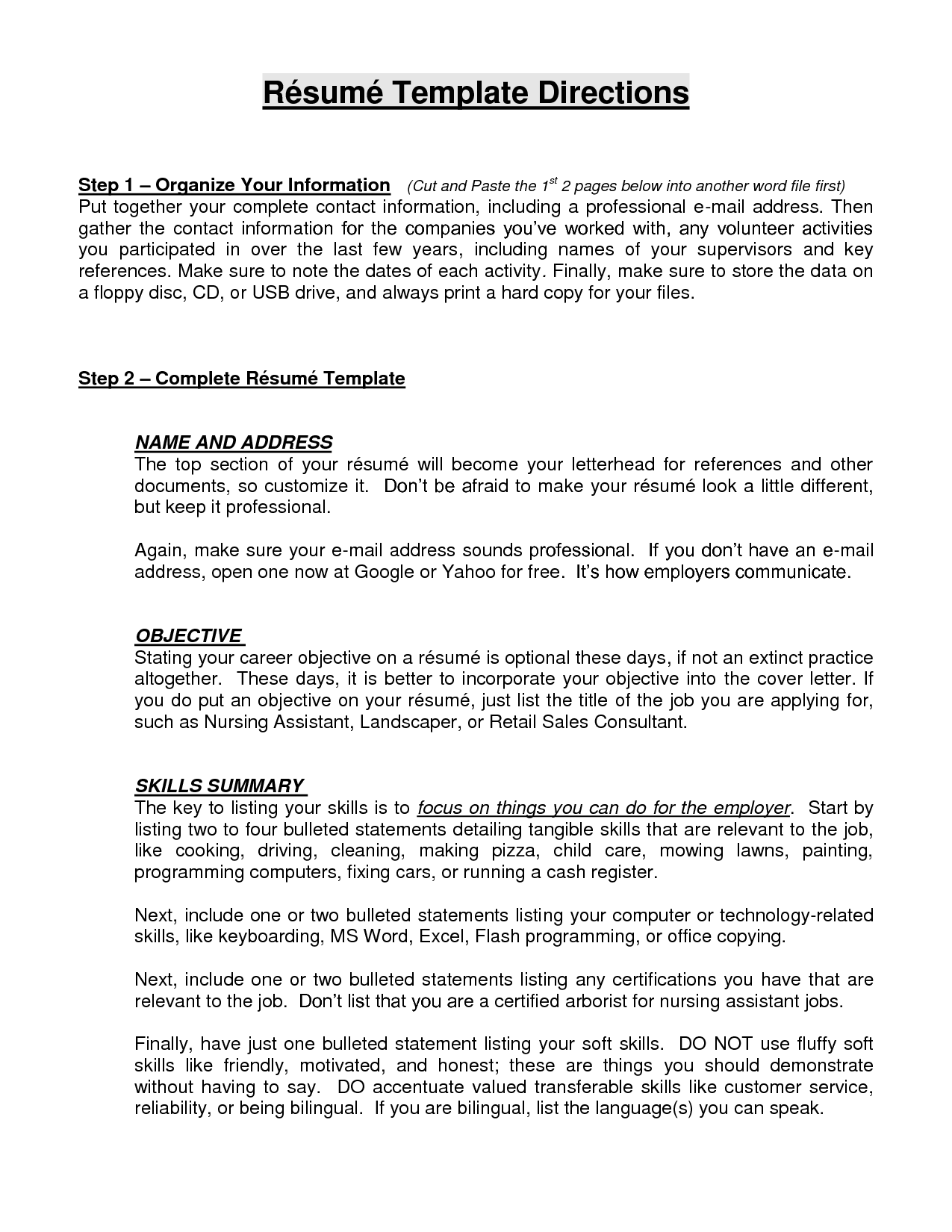 Resumes Objective Statements  Objective For Resumes