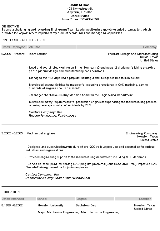 objective part of resume example secure enginering team leader position professional experience