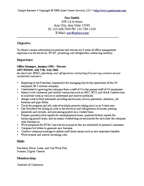 objectives for resumes general Objectives For Resume Examples resume objective samples resume objectives for any job sue smith