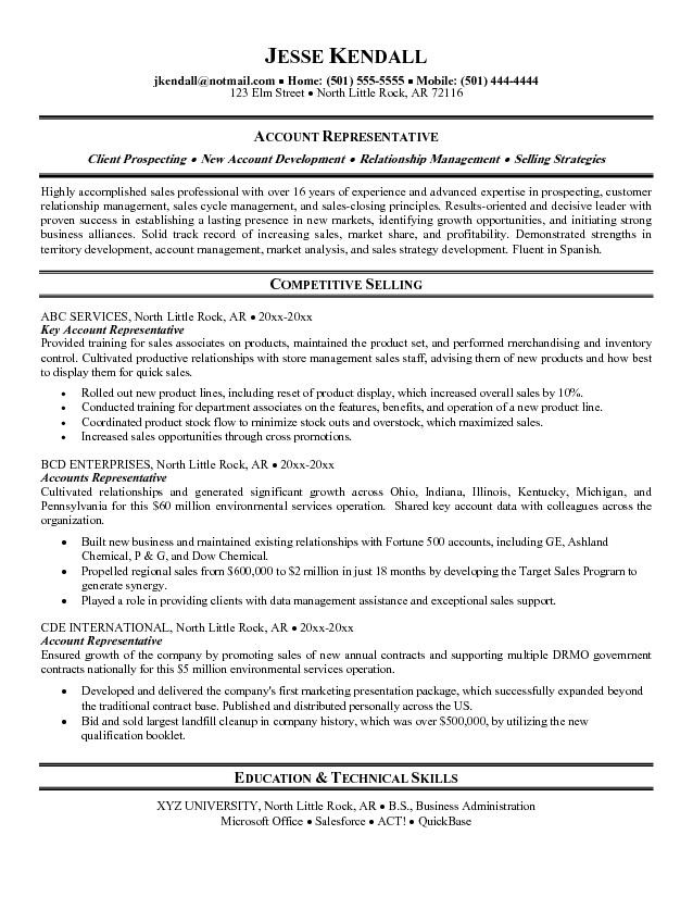 summary resume examples