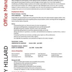office manager resume template office manager resume template by mary hillard