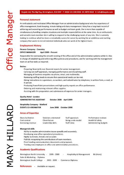 Office Manager Resume Template  SampleBusinessResume