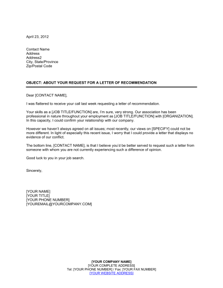 personal reference letter template