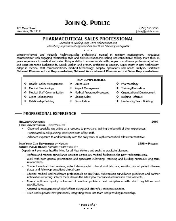 pharmaceutical sales professional sample pharmsales examples sales - Medical Device Sales Resume