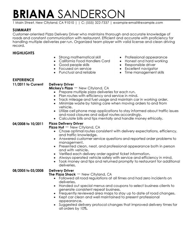 8 sample resume waitress job description
