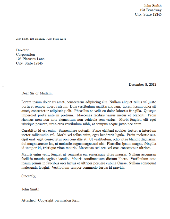 professional letter format formal letter john smith