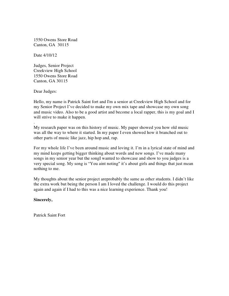 professional letter format to a judge letter to the judges format 2011