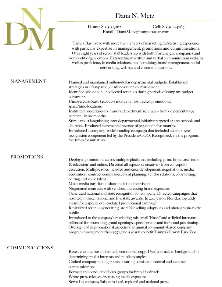 professional summary for resume dana n metz professional summary