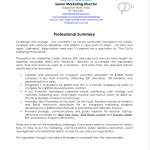 professional summary samples professional summary for resume james dawson