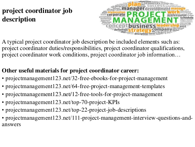 project coordinator job description project coordinator job description a typical project coordinator job description construction project coordinator job description