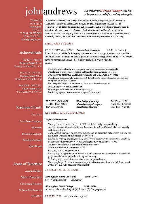 project manager resume marketing project manager resume by john andrews