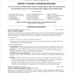 Project Manager Resume With Accomplishments By Nasir Marchand