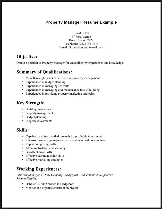 Example of resume qualifications and skills