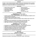 receptionist administration office support resume example executive list of receptionist duties by madison garcia