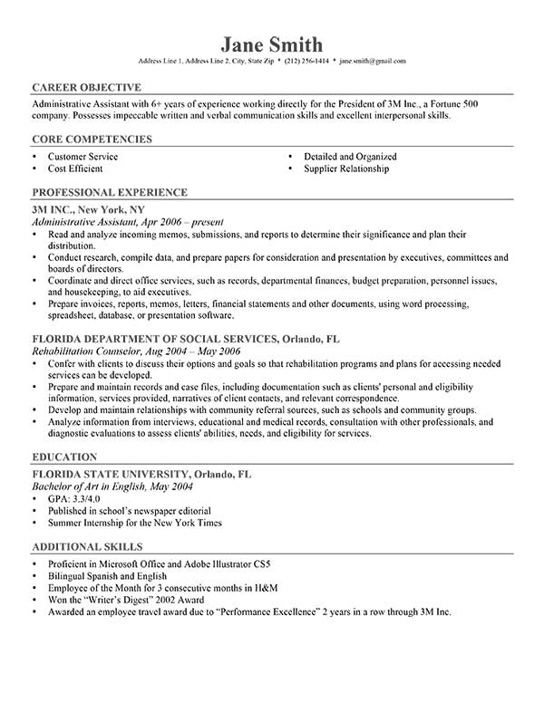 resume Resume Template Professional Gray jane smith