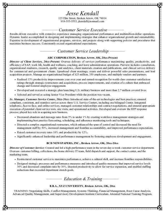 resume objective samples customer service JK Director of Customer Service jesse kendall