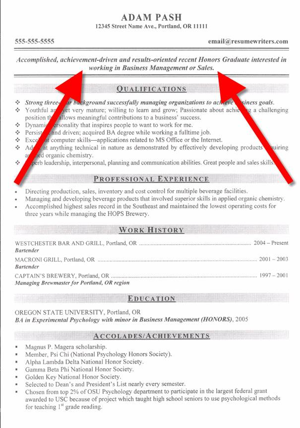 sample objectives resume cover letter template for objective ...
