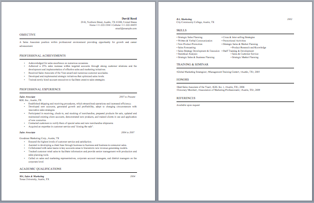Retail Sales Associate Accomplishments Sales Associate Resume