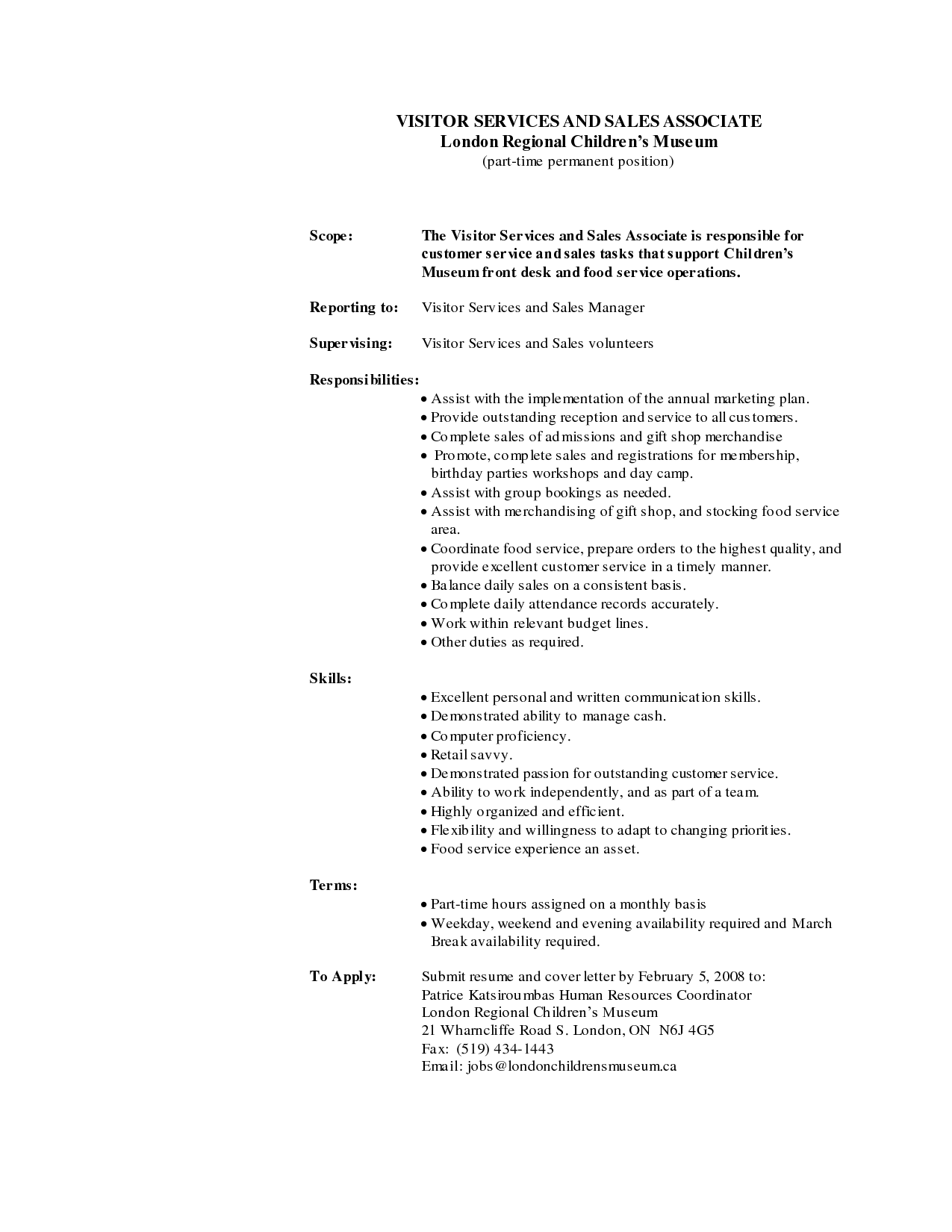 retail sales associate description for resume sales