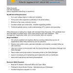 sales associate job description cover letter