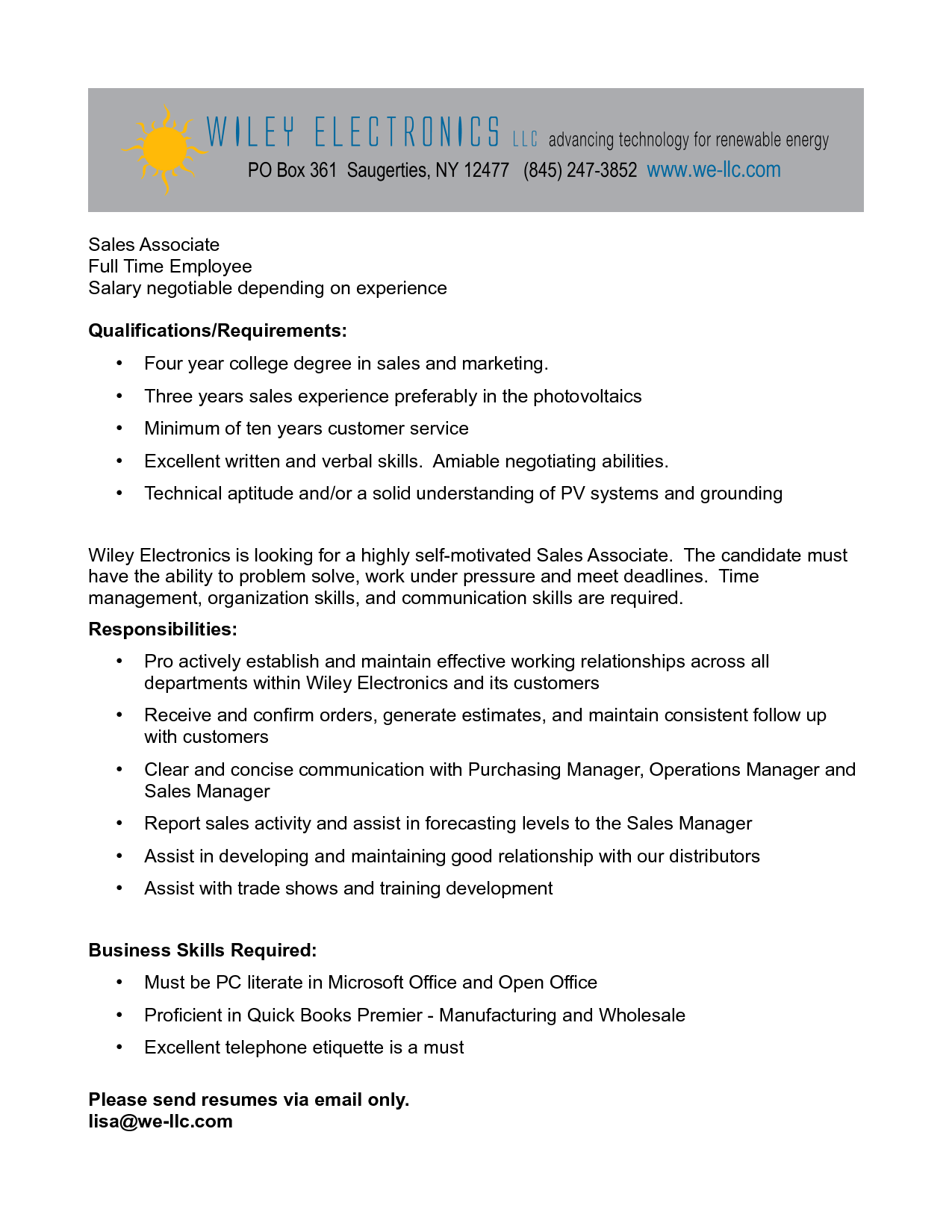 cover letter sales associate ideal vistalist co