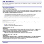 Sales Associate Resume Objective Retail Jesse Kendall
