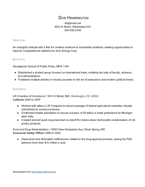 sample administrative resume