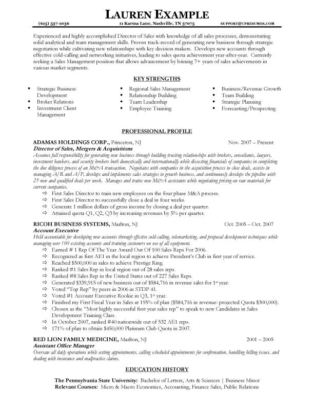 sales resume examples objective sales resume by lauren example