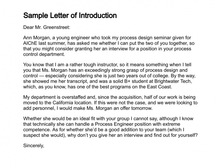 sample letter of introduction letter of introduction template