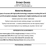 sample profile summary for resume examples by sydney davies - Sample Profile Summary For Resume