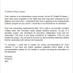 sample recommendation letter for middle school student Letter of Recommendation for Middle School Student