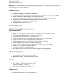 sample supermarket cashier resume or Cashier Resume Objective Examples