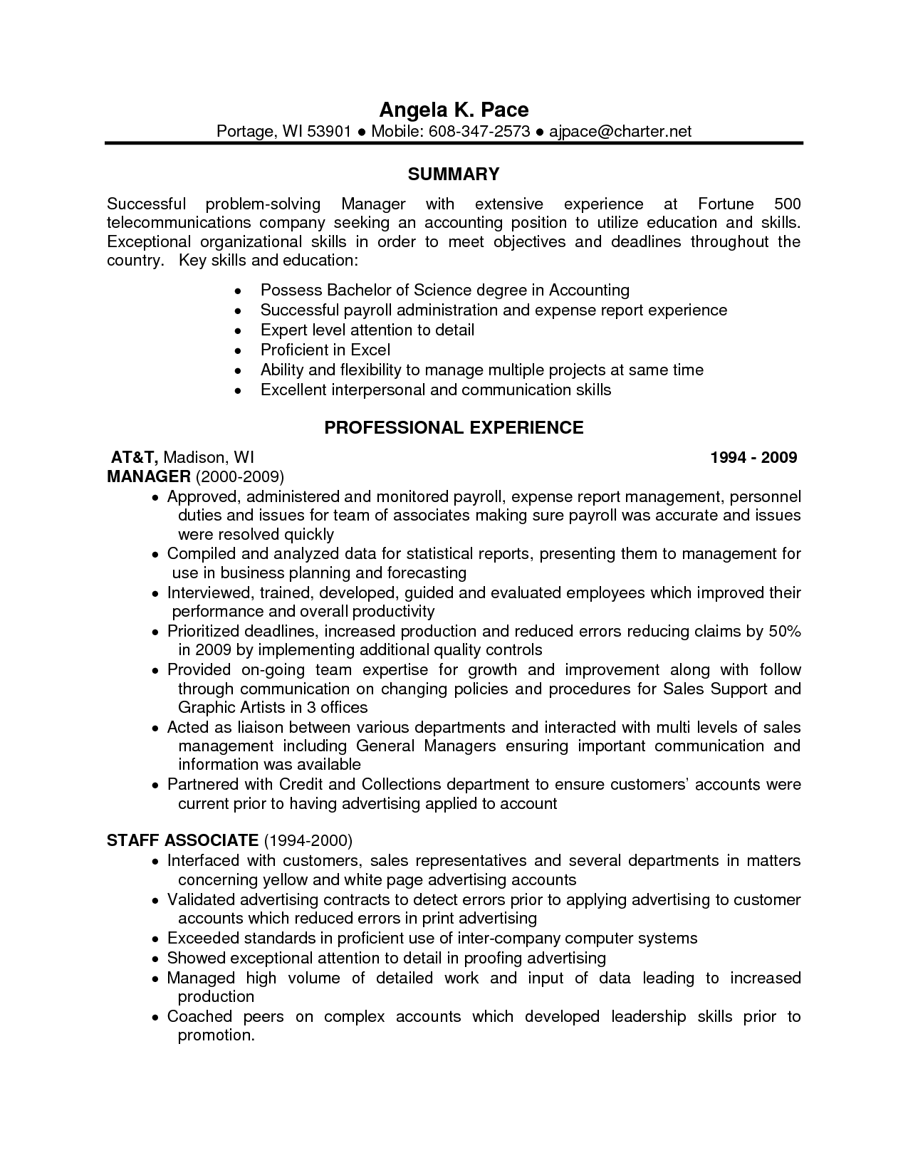 Top skills to put on a resumes for Special skills in resume samples