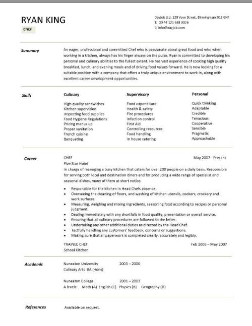 Resume Resume Sample For Junior Sous Chef sous chef resume examples and free builder resumes responsibilities pic