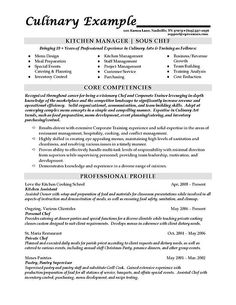 sous chef resume skills Sous Chef Resume Example