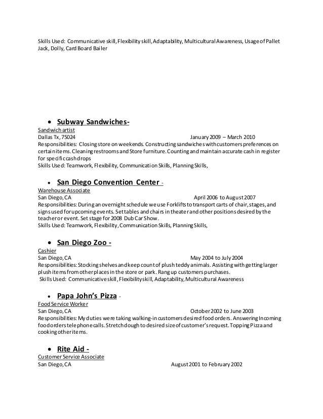 SamplebusinessresumeCom  Page  Of   Business Resume