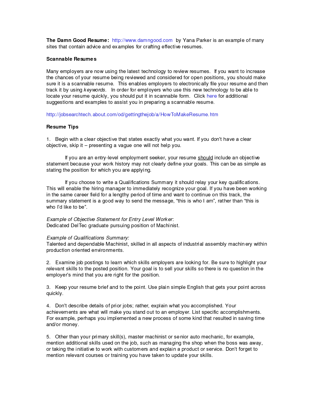 summary examples for resume summary resume samples