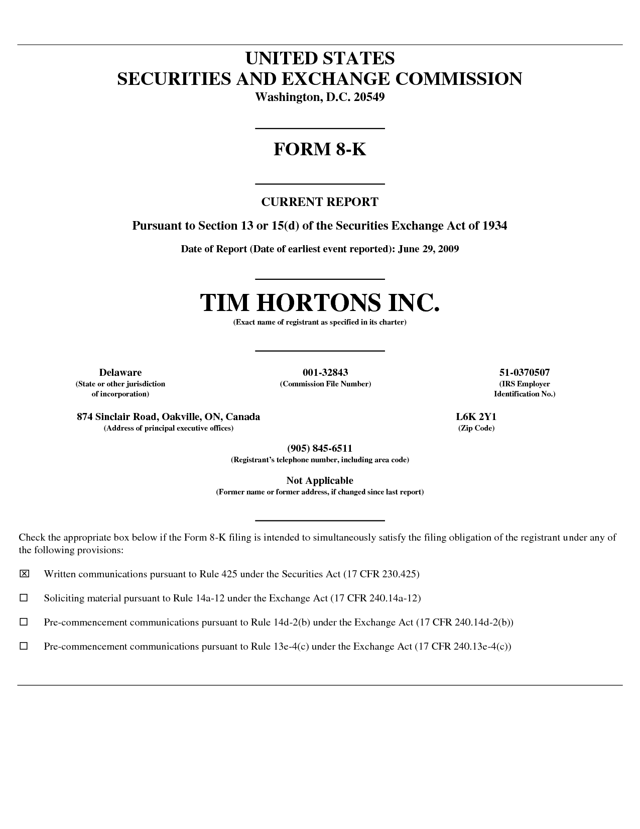 tim hortons inc united states tim hortons application print out