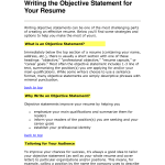 writing the objective statement for your resume objective statement resume