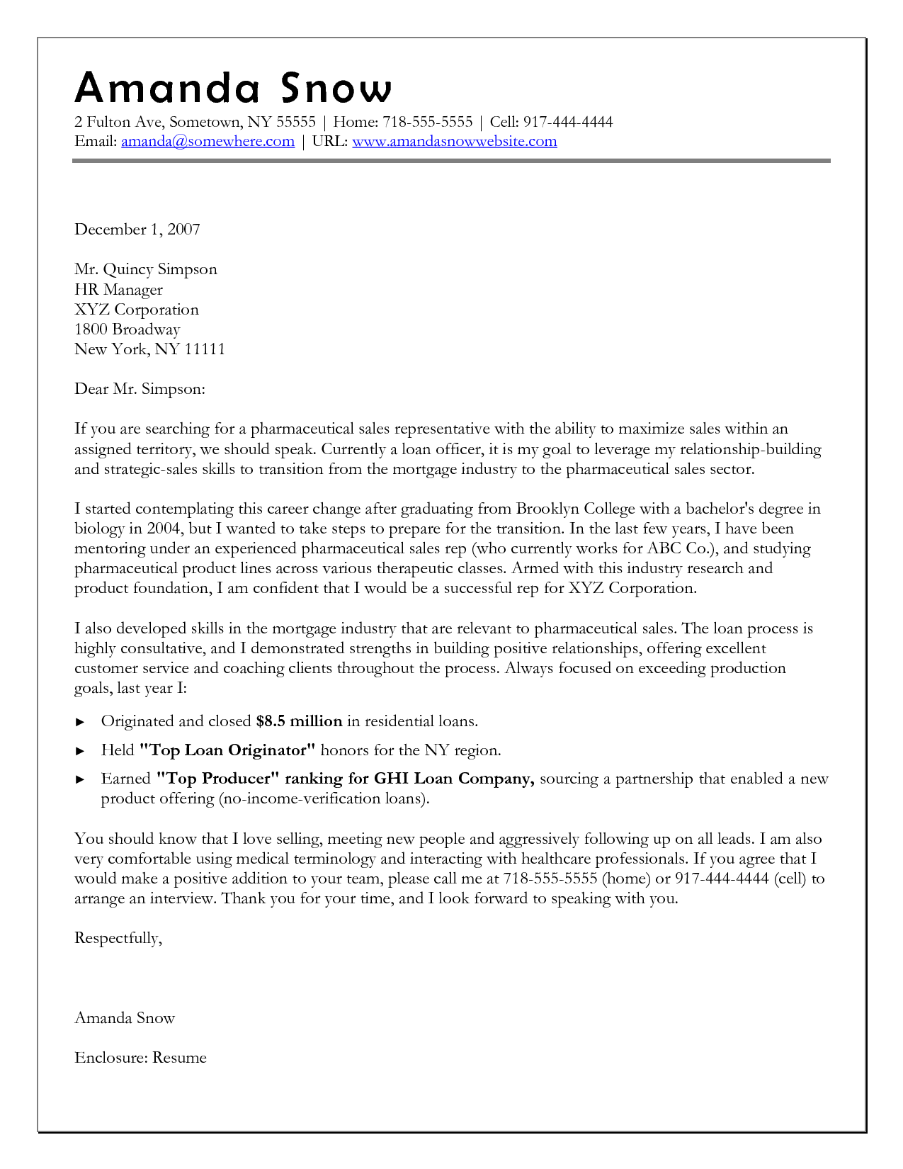 sample cover letter for manufacturing job - 10 sample of career change cover letter