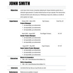 Chronological Resume sample BASIC RESUME EXAMPLES