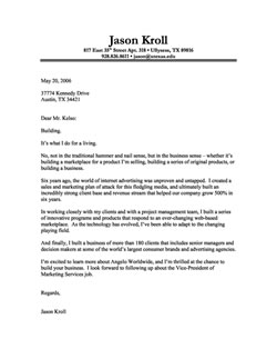 cover letter of interest template