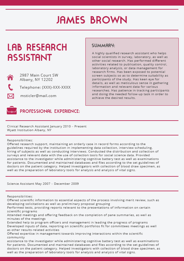 Full Colour Best Resume Template 2016 Resume Offered research support