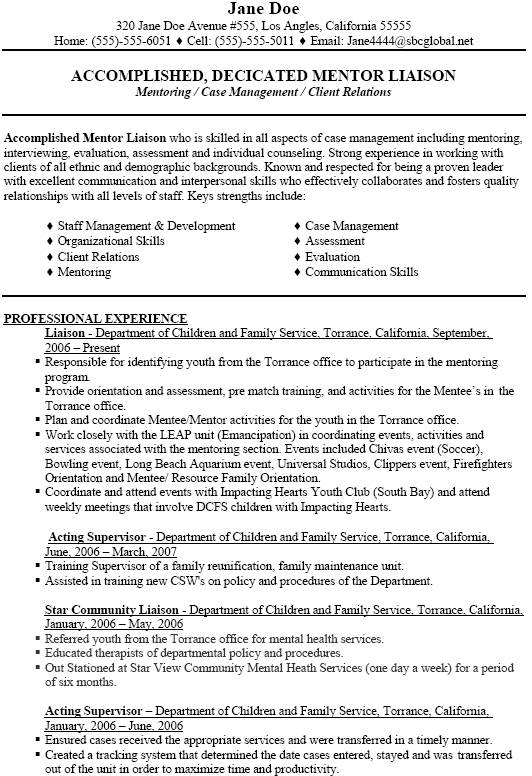 social work resume objective - Social Worker Resumes