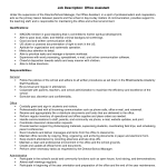 Office Assistant Job Description Resume Qualification General office administrative