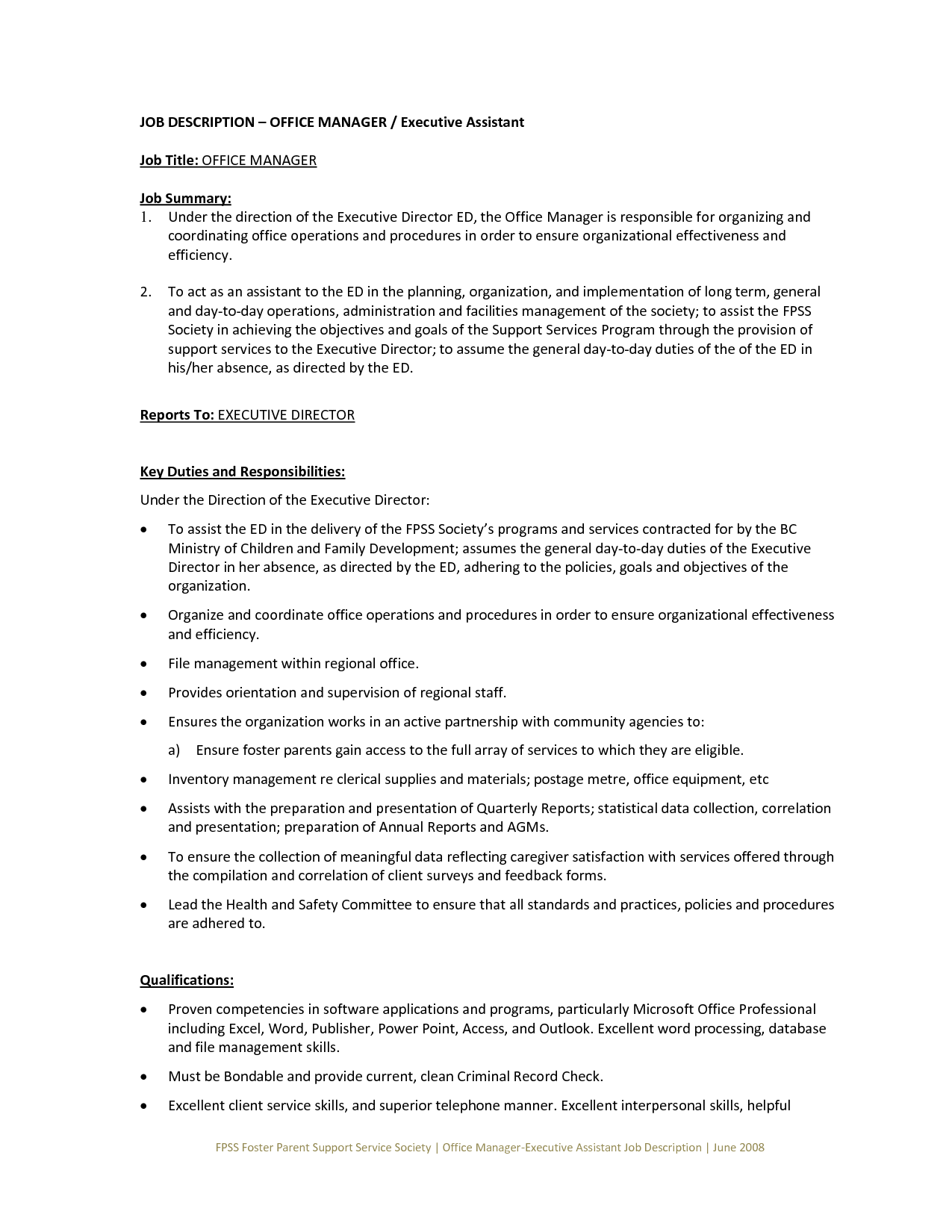 general cover letter for administrative assistant