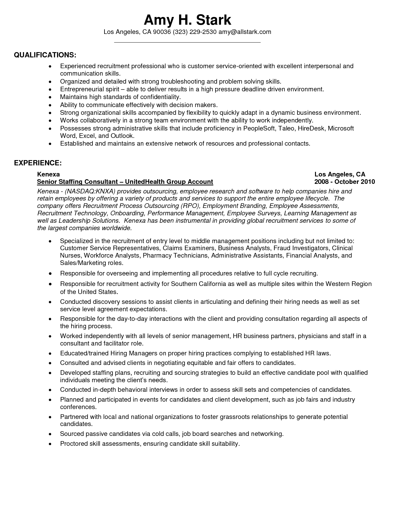 Resume Templates Customer Service On KFC Job Application template