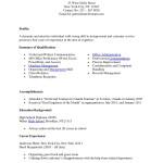Medical Office Receptionist Resume Sample work experience and ...